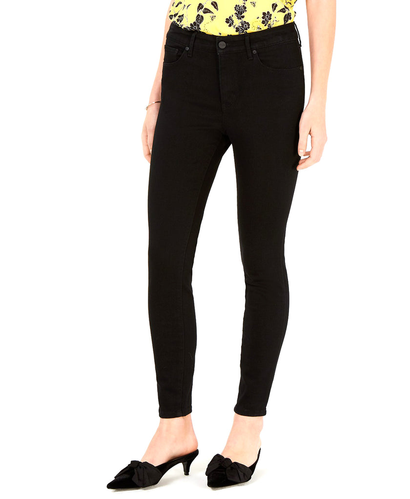 Yieldings Discount Clothing Store's Denim High-Rise Skinny Jeans by Maison Jules in Black Rinse