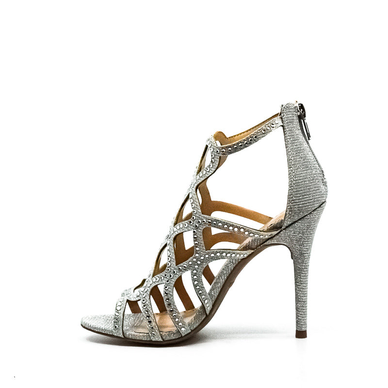 Yieldings Discount Shoes Store's Daliyah Heel Sandals by Zigi Soho in Silver