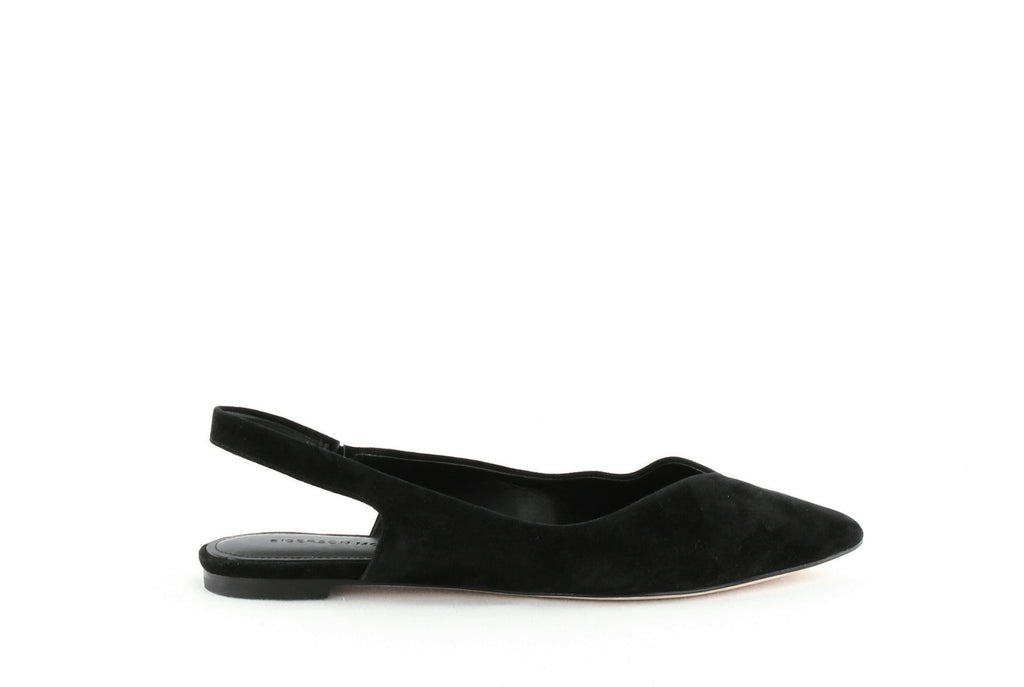 Yieldings Discount Shoes Store's Sunshine Flats by Sigerson Morrison in Black