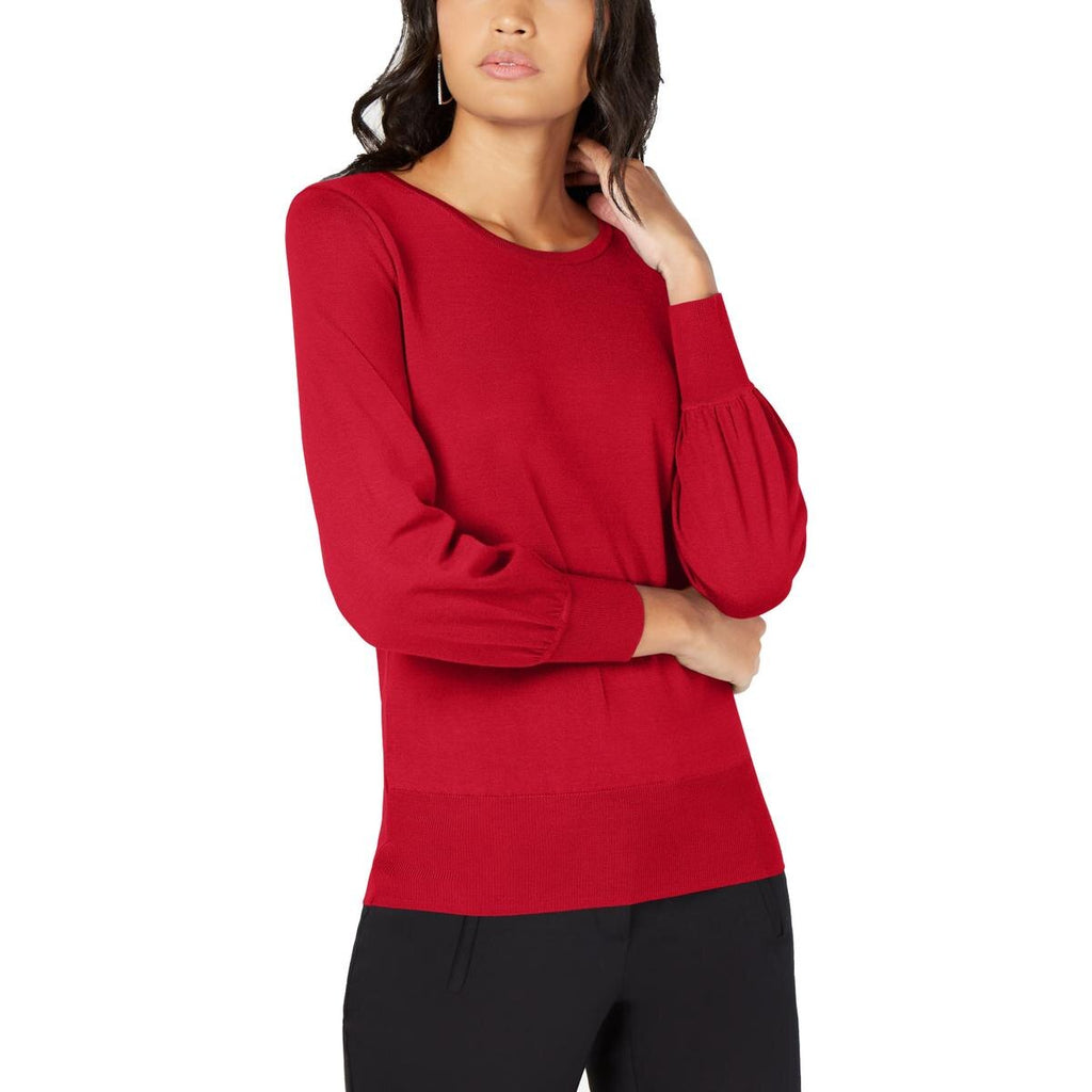 Yieldings Discount Clothing Store's Bishop Sleeve Sweater by Alfani in Chinese Red