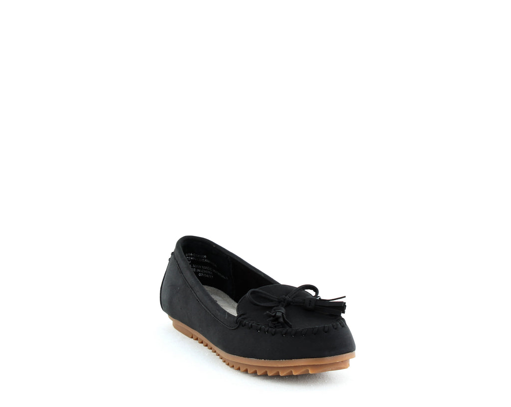 Yieldings Discount Shoes Store's Samanda Flat Slip On by Cliffs By White Mountain in Black/Suede/Smooth
