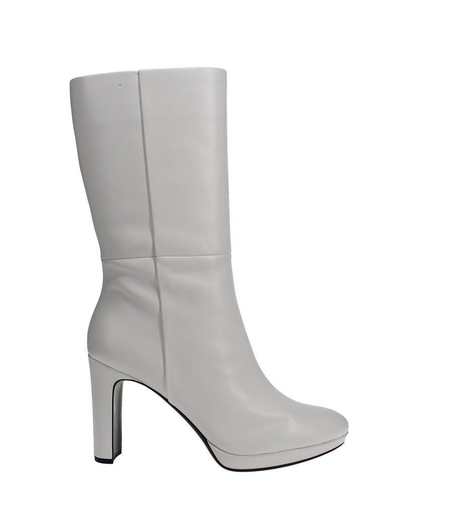 Yieldings Discount Shoes Store's Pebbles Mid Calf Boots by Calvin Klein in White