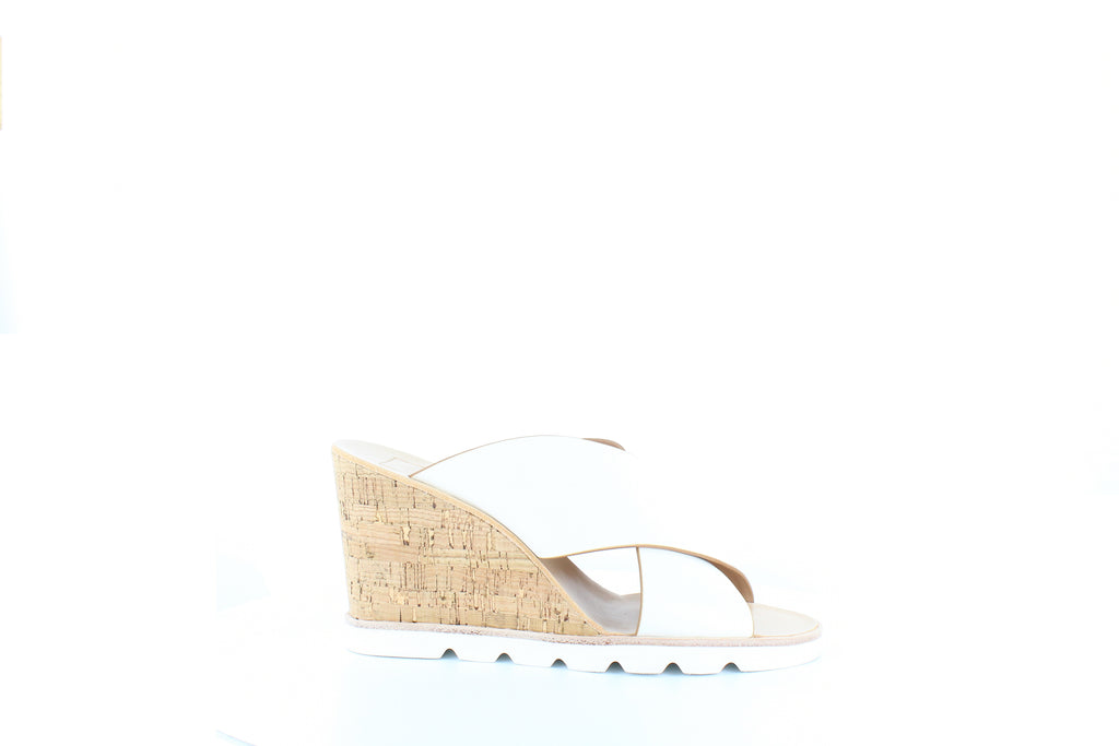 Yieldings Discount Shoes Store's Lida Wedge Sandals by Dolce Vita in White Leather