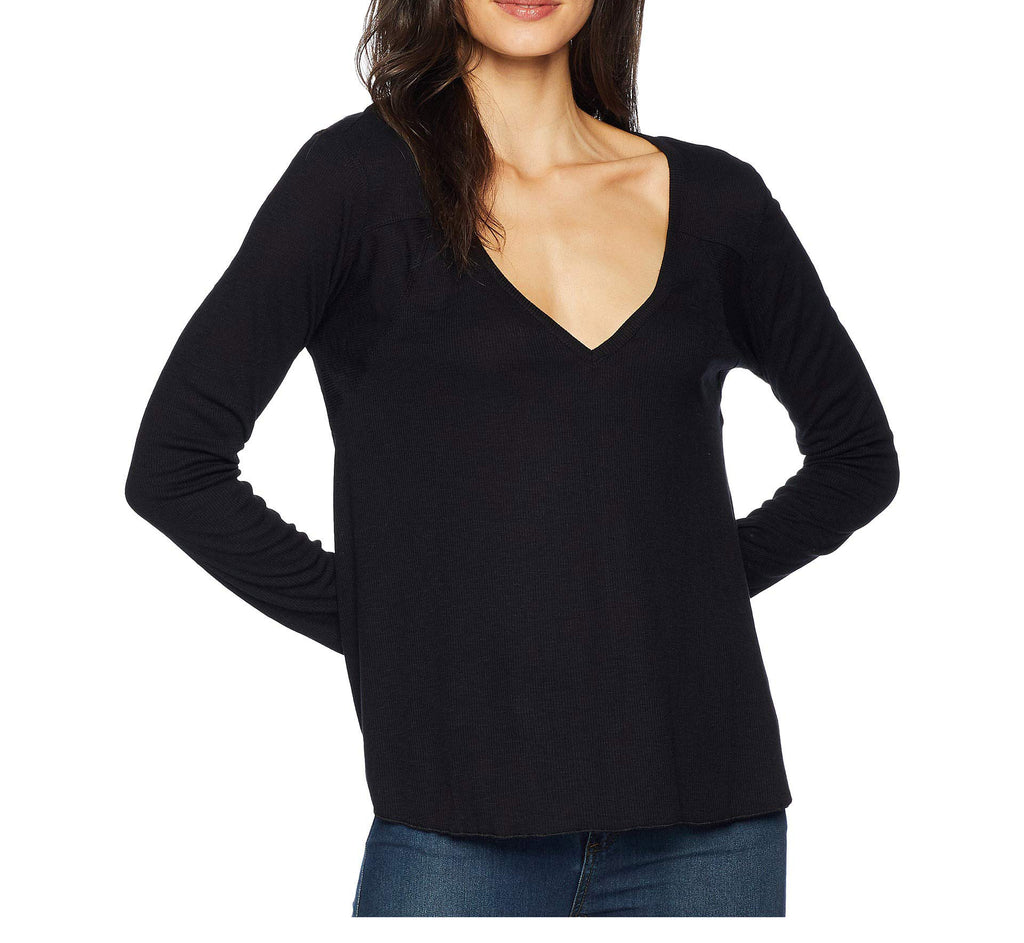 Yieldings Discount Clothing Store's Rock The Boat Bateau Top by Free People in Black