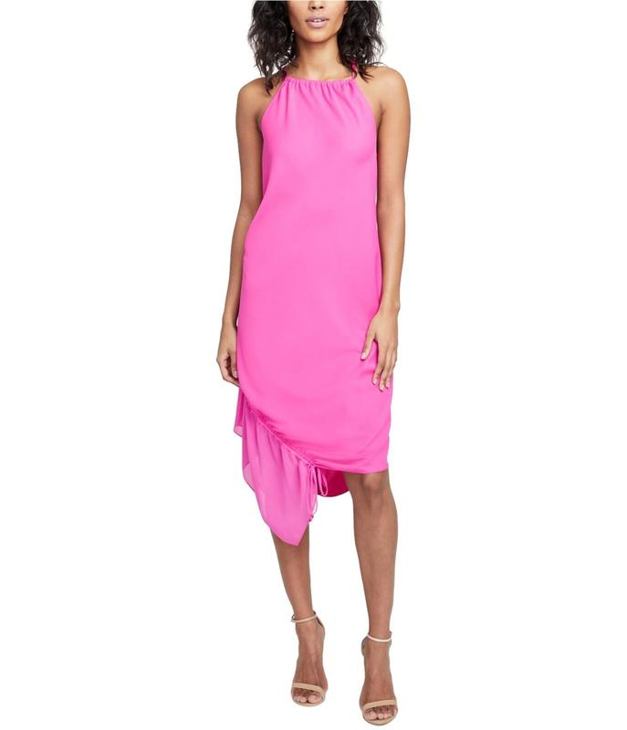 Yieldings Discount Clothing Store's June Santorini Drawstring Hem Dress by RACHEL Rachel Roy in Party Pink