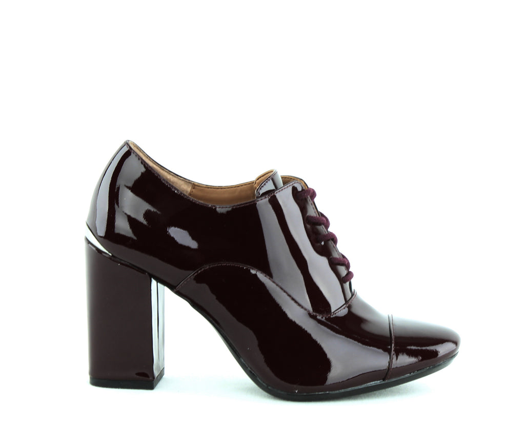 Yieldings Discount Shoes Store's Cailey Block Heel Oxford by Calvin Klein in Ox Blood