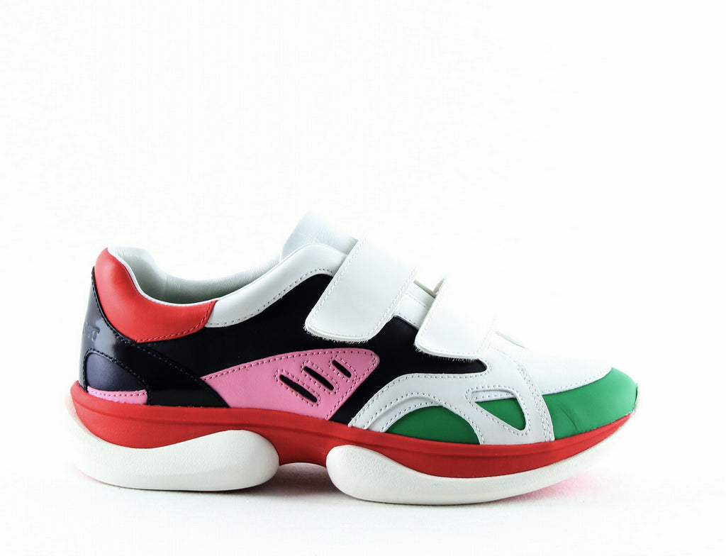 Yieldings Discount Shoes Store's Bubble Double Strap Sneakers by Tory Sport in Snow White/Multi