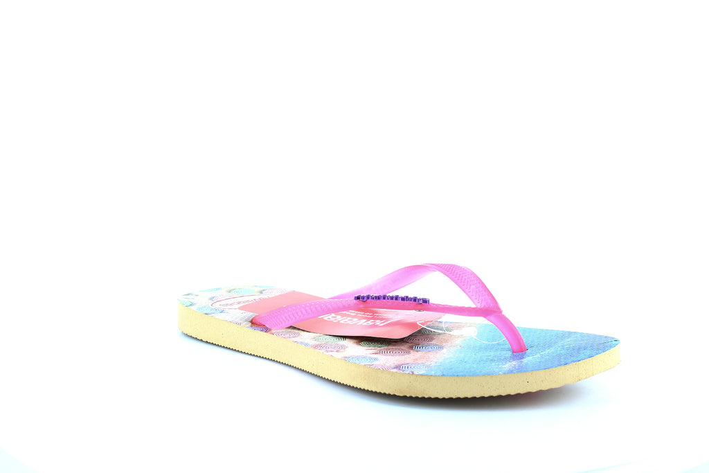 Yieldings Discount Shoes Store's Slim Paisage Flip-Flops by Havaianas in Ivory