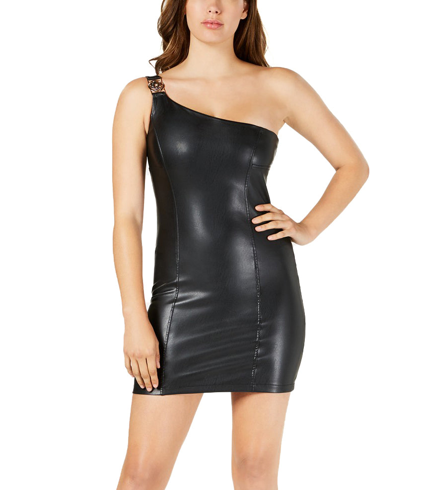 Guess | Cecile One-Shoulder Faux-Leather Dress