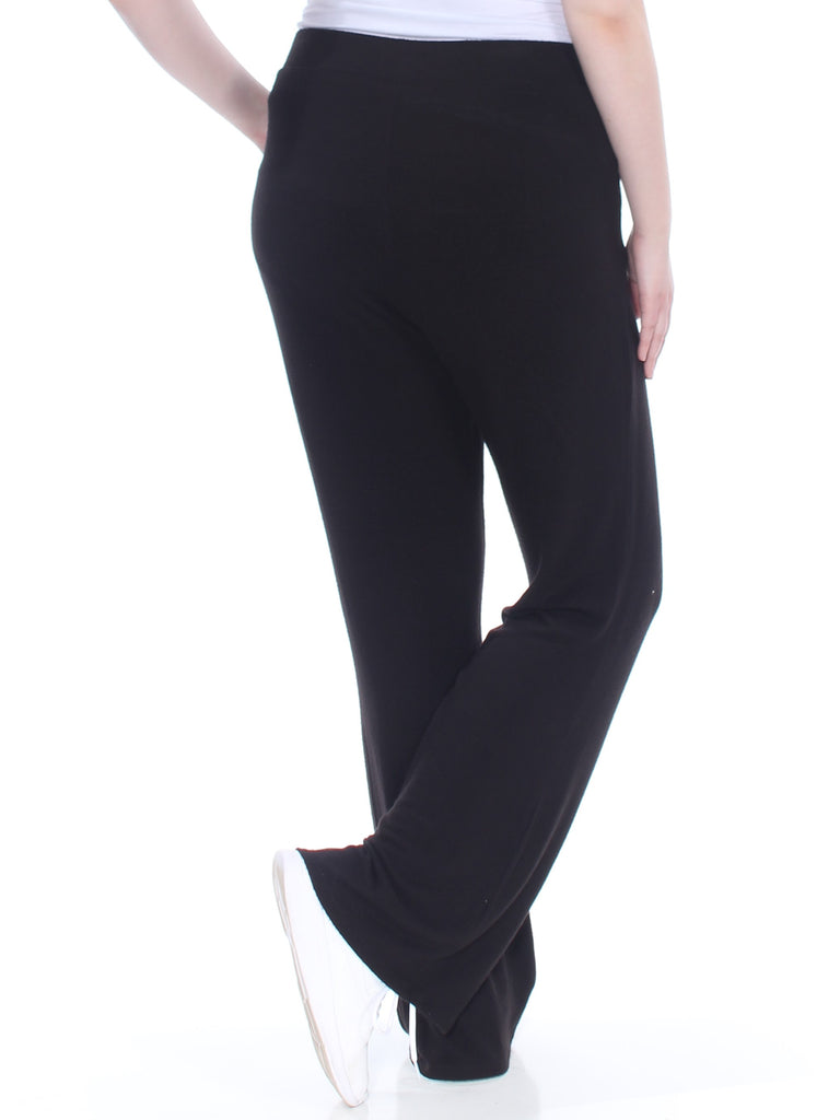 Yieldings Discount Clothing Store's High Waist Flare Pants by Guess in Jet Black