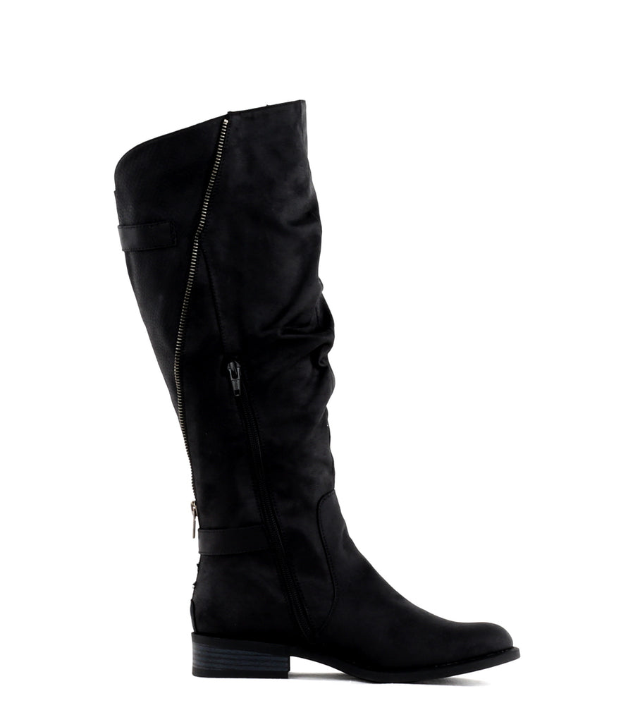 Yieldings Discount Shoes Store's Leto Knee High Boots by White Mountain in Black