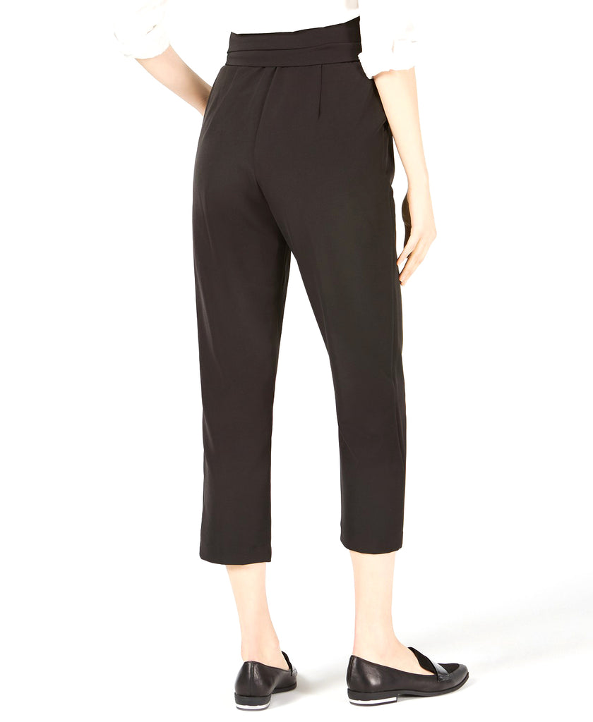 Yieldings Discount Clothing Store's High-Waist Cropped Pants by Leyden in Black
