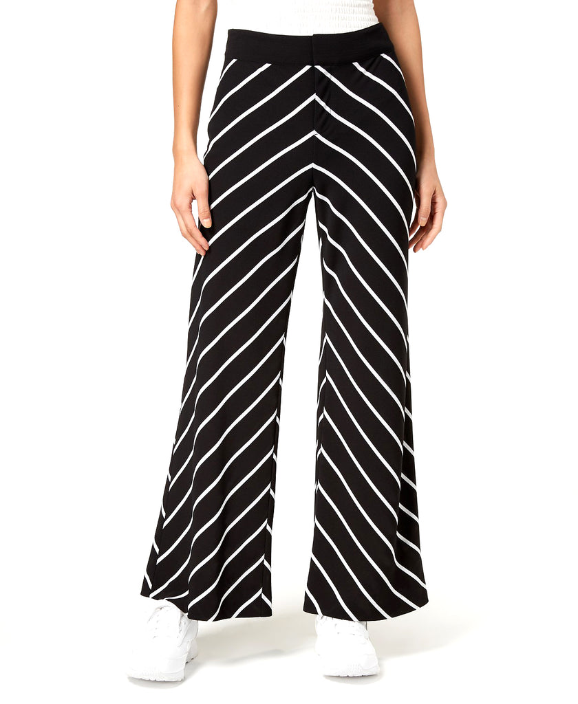 Yieldings Discount Clothing Store's Striped Wide-Leg Pants by Bar III in Mixed Stripe