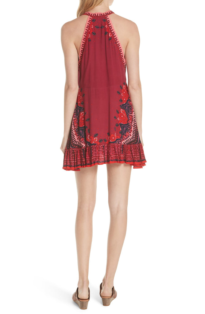 Free People | Steal The Sun Printed Halter Dress