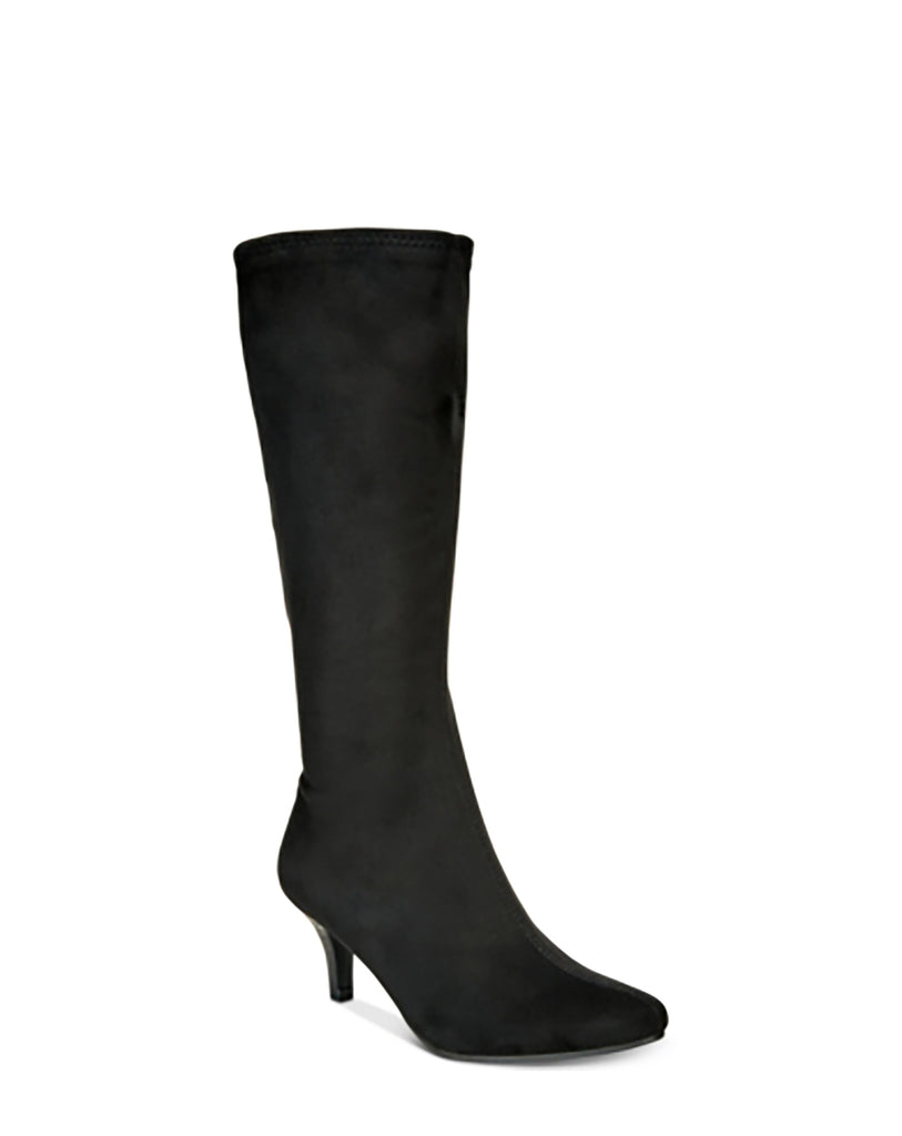 Yieldings Discount Shoes Store's Noland Pointed-Toe Boots by Impo in Black