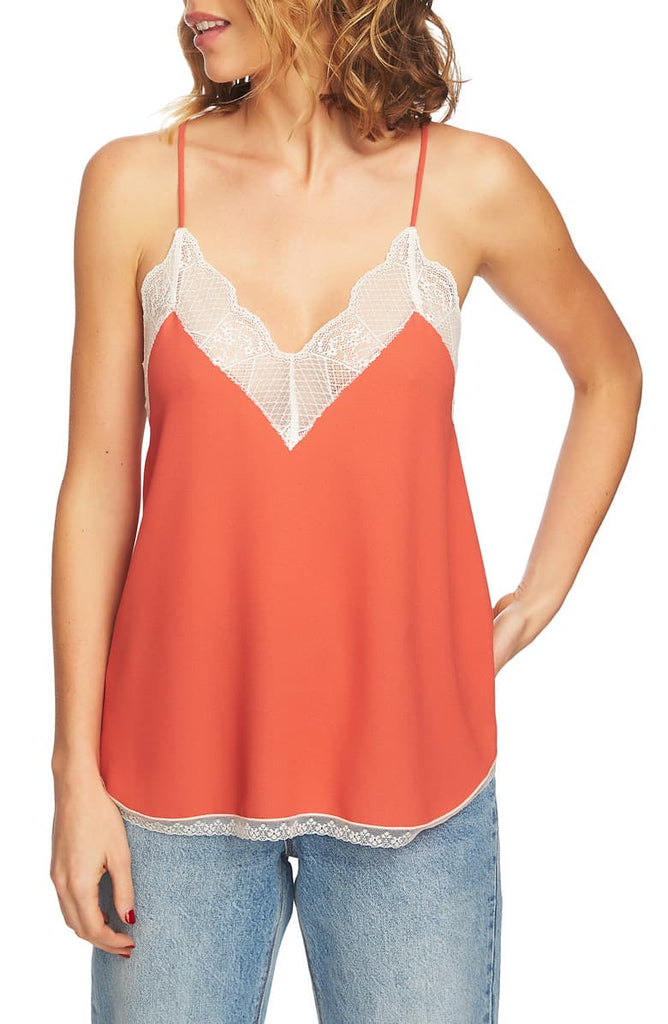 Yieldings Discount Clothing Store's Lace-Trimmed Camisole Top by 1.State in Desert Rose