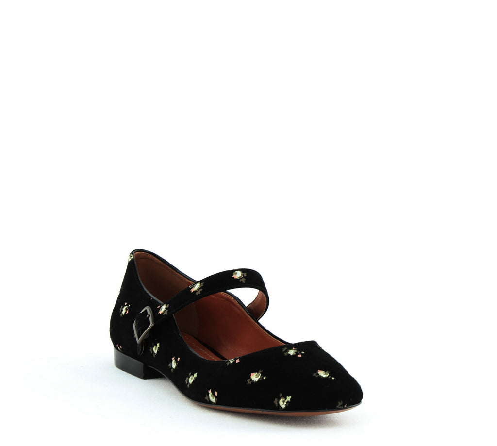 Coach | MaryJane Printed Suede Flats