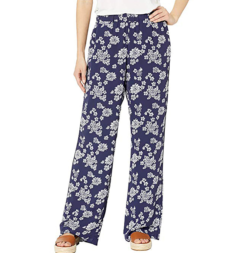 Yieldings Discount Clothing Store's Floral-Print Pull-On Pants by Michael Kors in True Navy/White