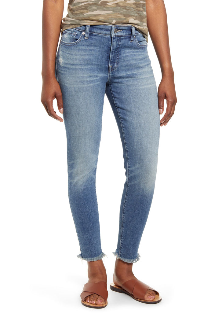 Lucky Brand |  Ava Distressed Cropped Jeans