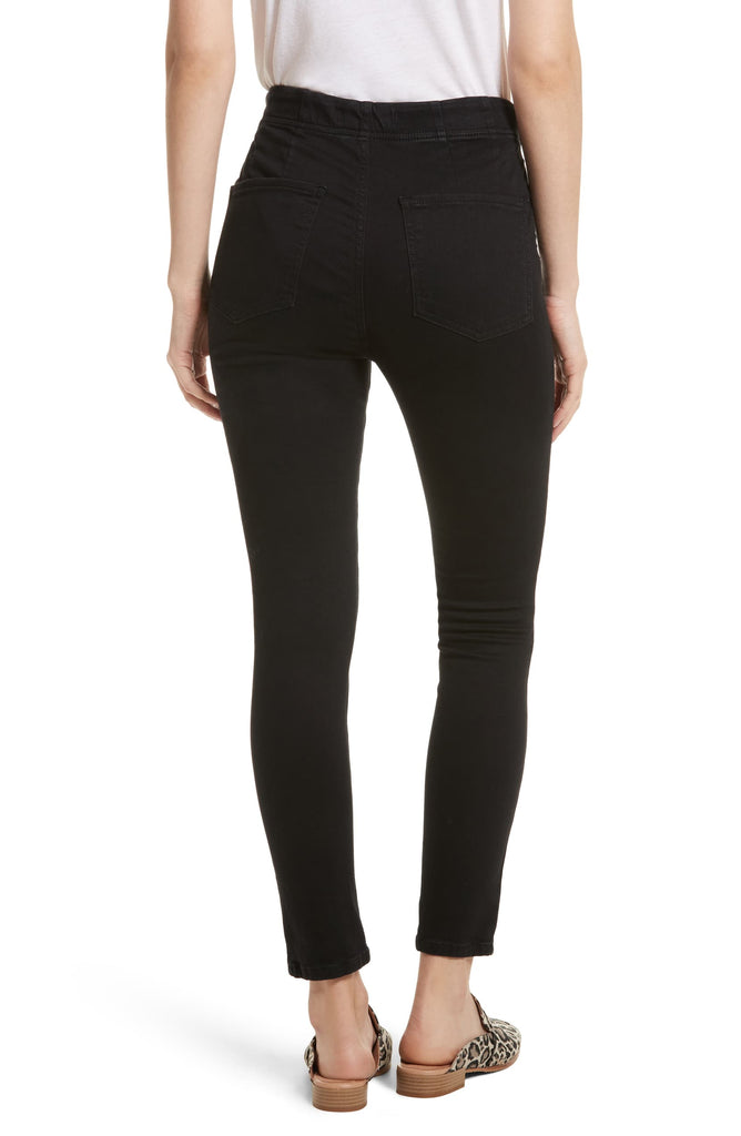 Yieldings Discount Clothing Store's Ultra High Skinny Pull On Jeggings by Free People in Black