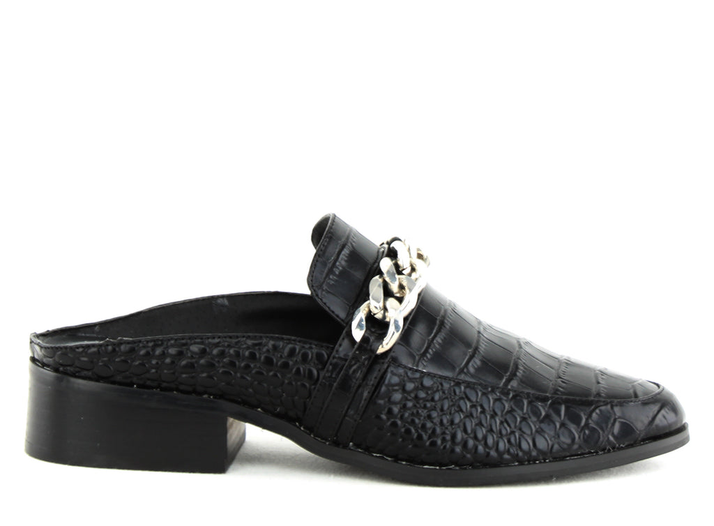 Yieldings Discount Shoes Store's Swanki Slip-On Loafers by STEVEN By Steve Madden in Black
