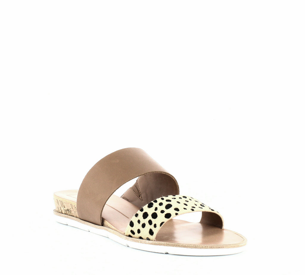 Yieldings Discount Shoes Store's Vala Wedge Slide Sandals by Dolce Vita in Leopard