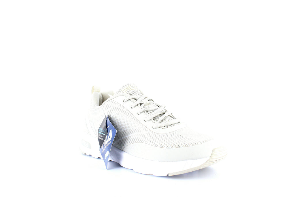 Yieldings Discount Shoes Store's Memory Chelsea Knit Sneakers by Fila in Silver Birch/White