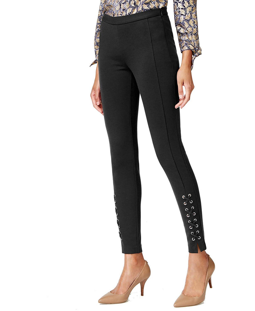 Yieldings Discount Clothing Store's Petite Ankle Lace Skinny Pants by Michael Kors in Black