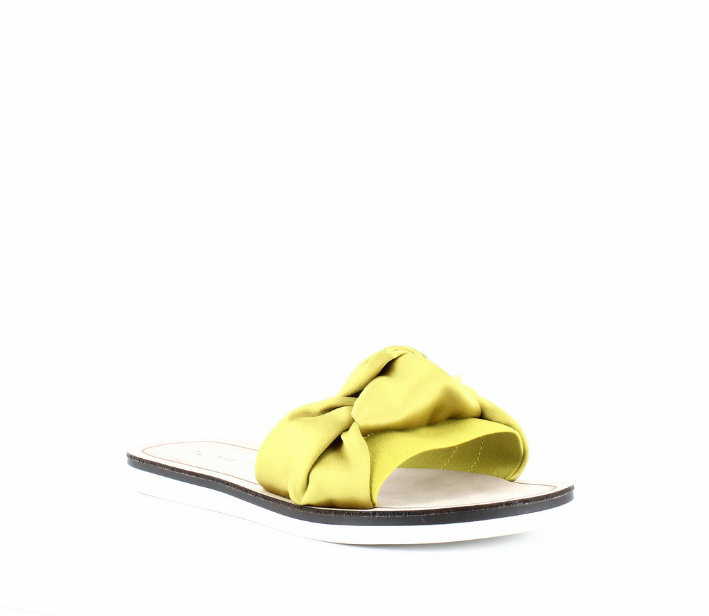 Yieldings Discount Shoes Store's Noahh Slide Sandals by Alfani in Citron