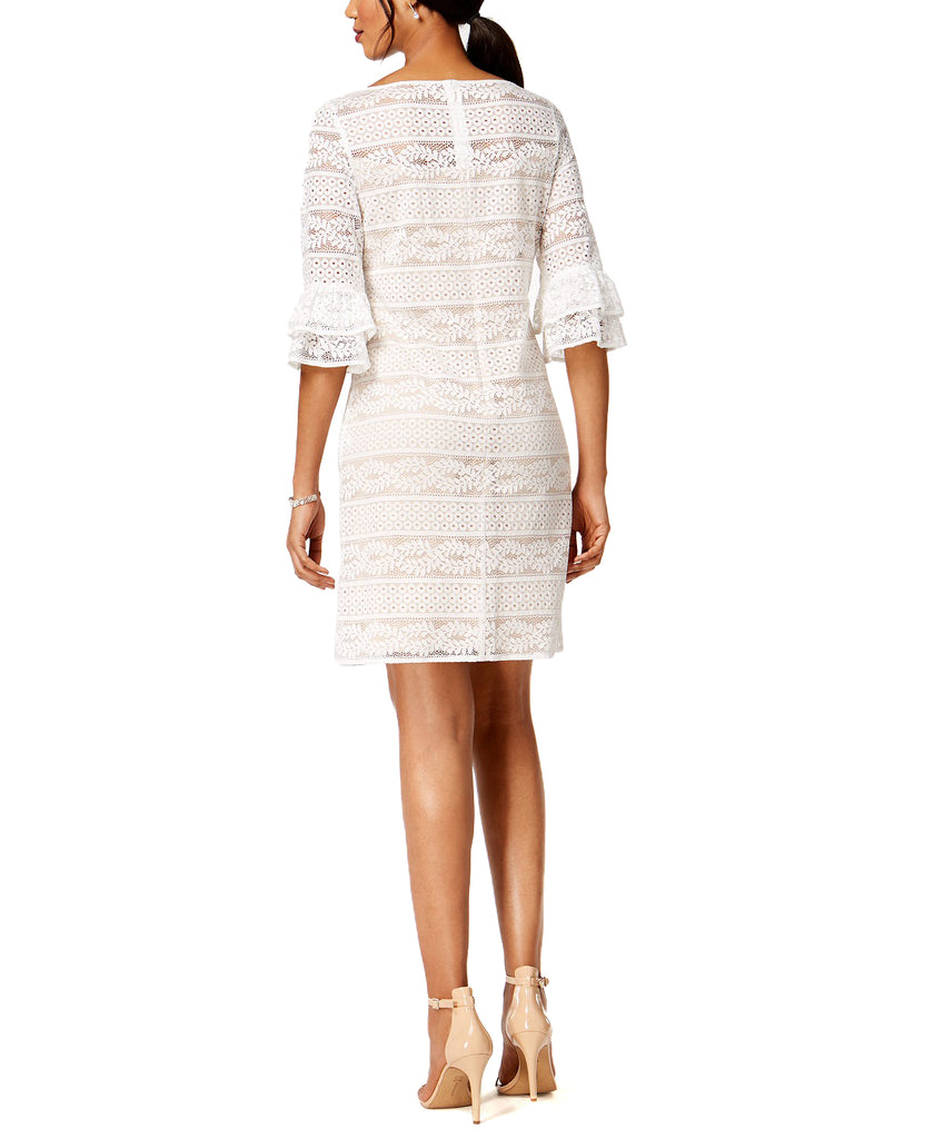 Yieldings Discount Clothing Store's Lace Bell Sleeves Special Occasion Dress by Jessica Howard in Ivory/Beige