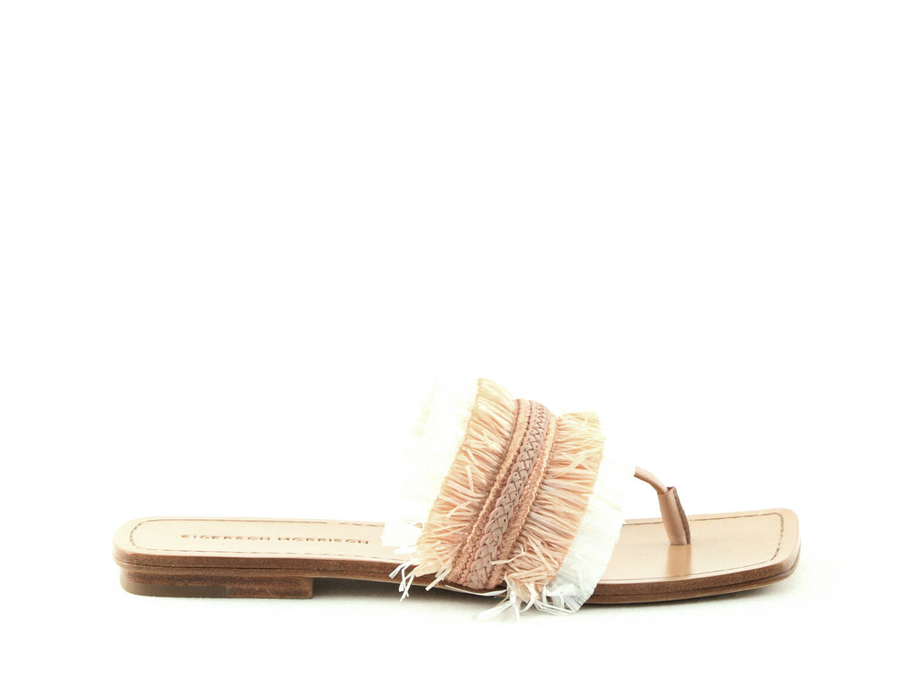 Yieldings Discount Shoes Store's Avis Thong Sandals by Sigerson Morrison in Nude/White