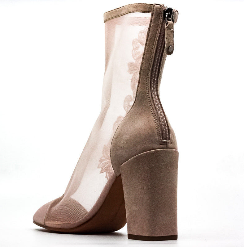 Yieldings Discount Shoes Store's Reagan Block Heel Boots by Avec Les Filles in Pink