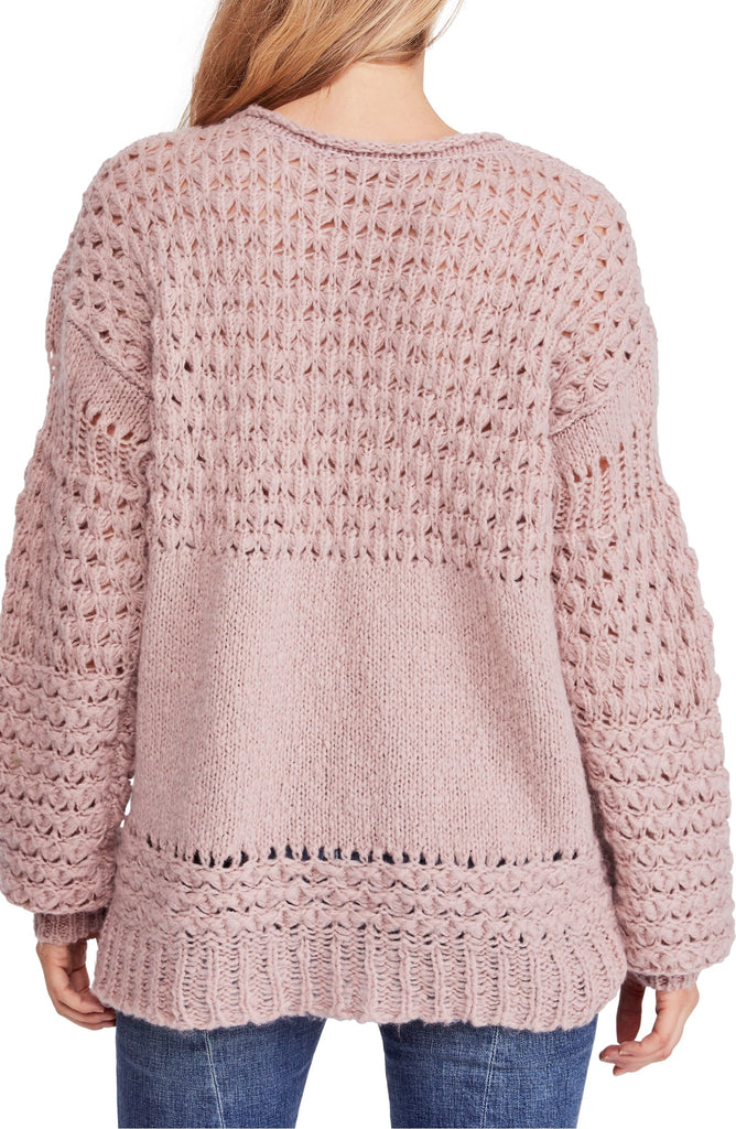 Yieldings Discount Clothing Store's Crashing Waves Pullover by Free People in Mauve