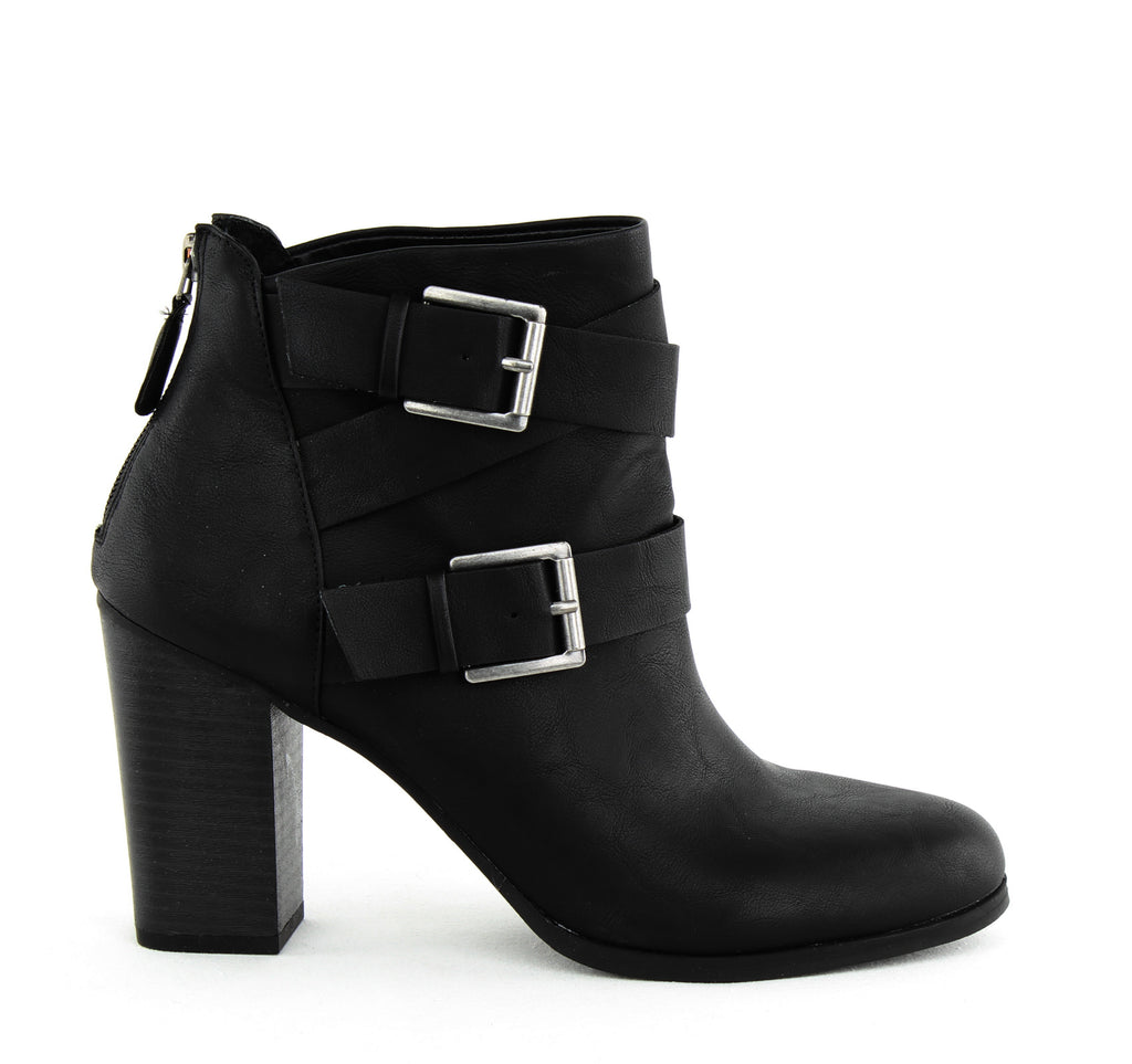 Yieldings Discount Shoes Store's Royy Block Heel Ankle Booties by Style & Co in Black