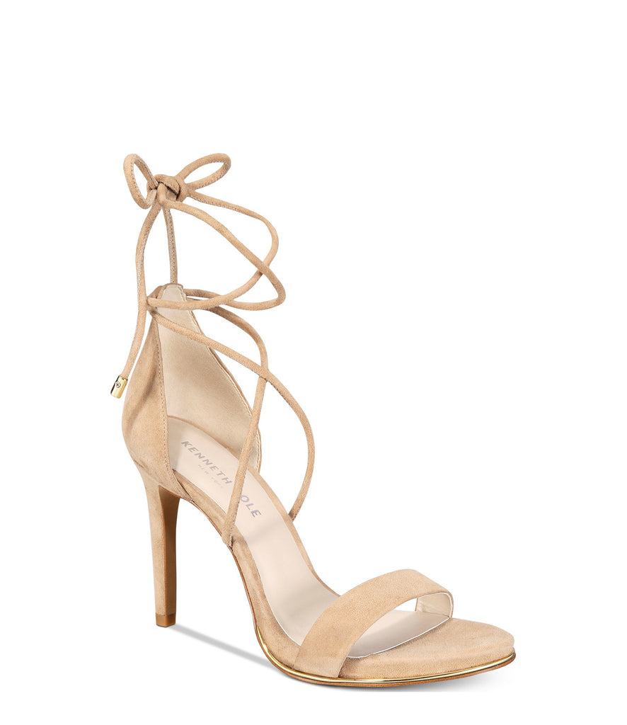 Yieldings Discount Shoes Store's Berry Heeled Sandals by Kenneth Cole in Almond