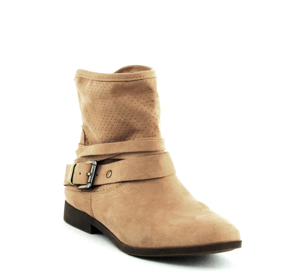 Yieldings Discount Shoes Store's Abbey Block Heel Ankle Bootie by Carlos by Carlos Santana in Brulee