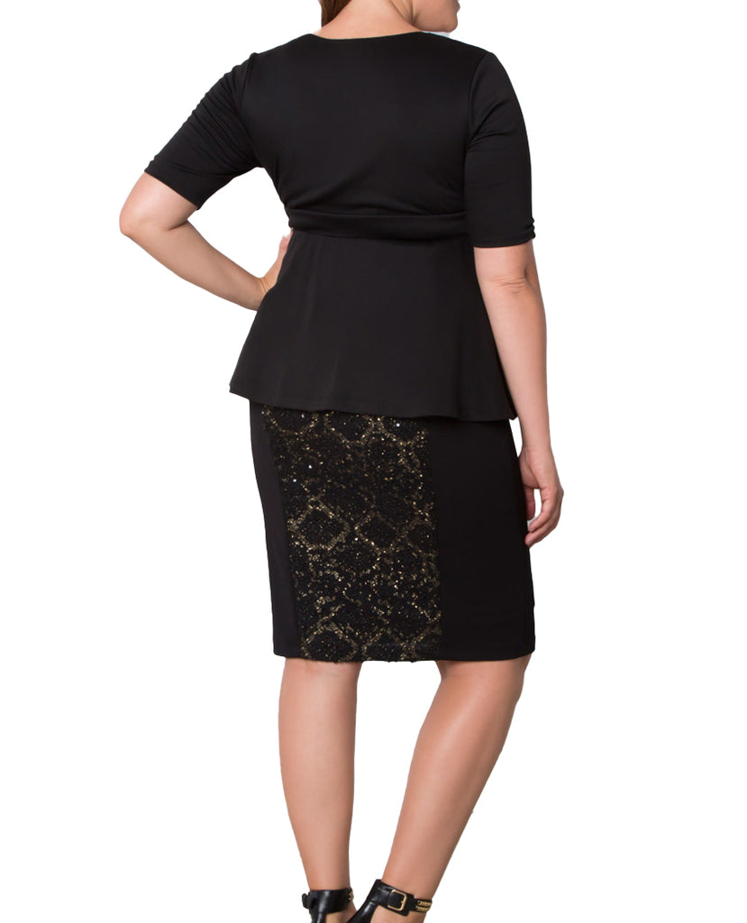 Yieldings Discount Clothing Store's Boucle Pencil Skirt by Kiyonna in Black