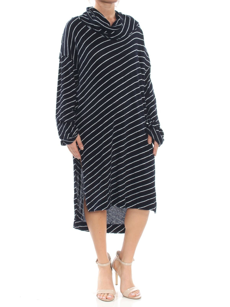 Yieldings Discount Clothing Store's Gotta Have It Striped Tunic by Free People in Indigo Combo