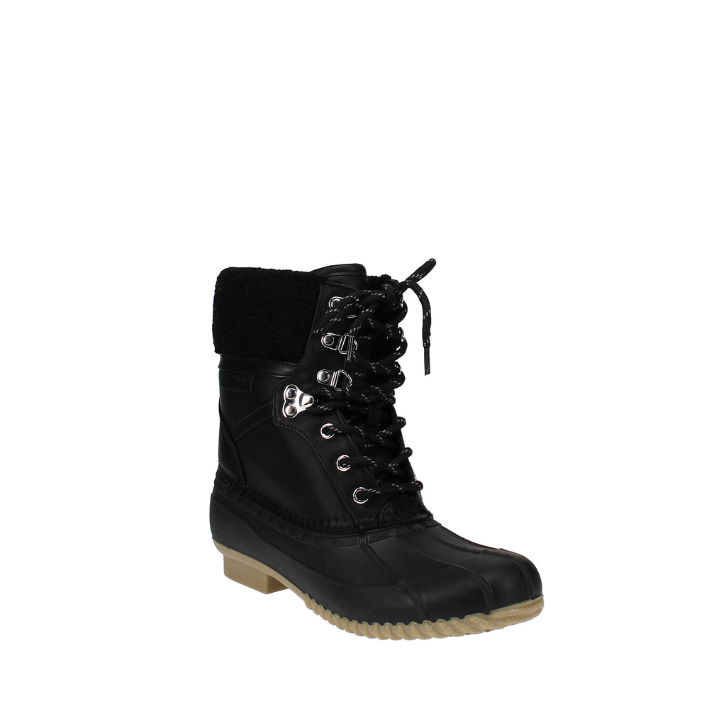 Yieldings Discount Shoes Store's Rian Lace-Up Winter Boots by Tommy Hilfiger in Black Multi