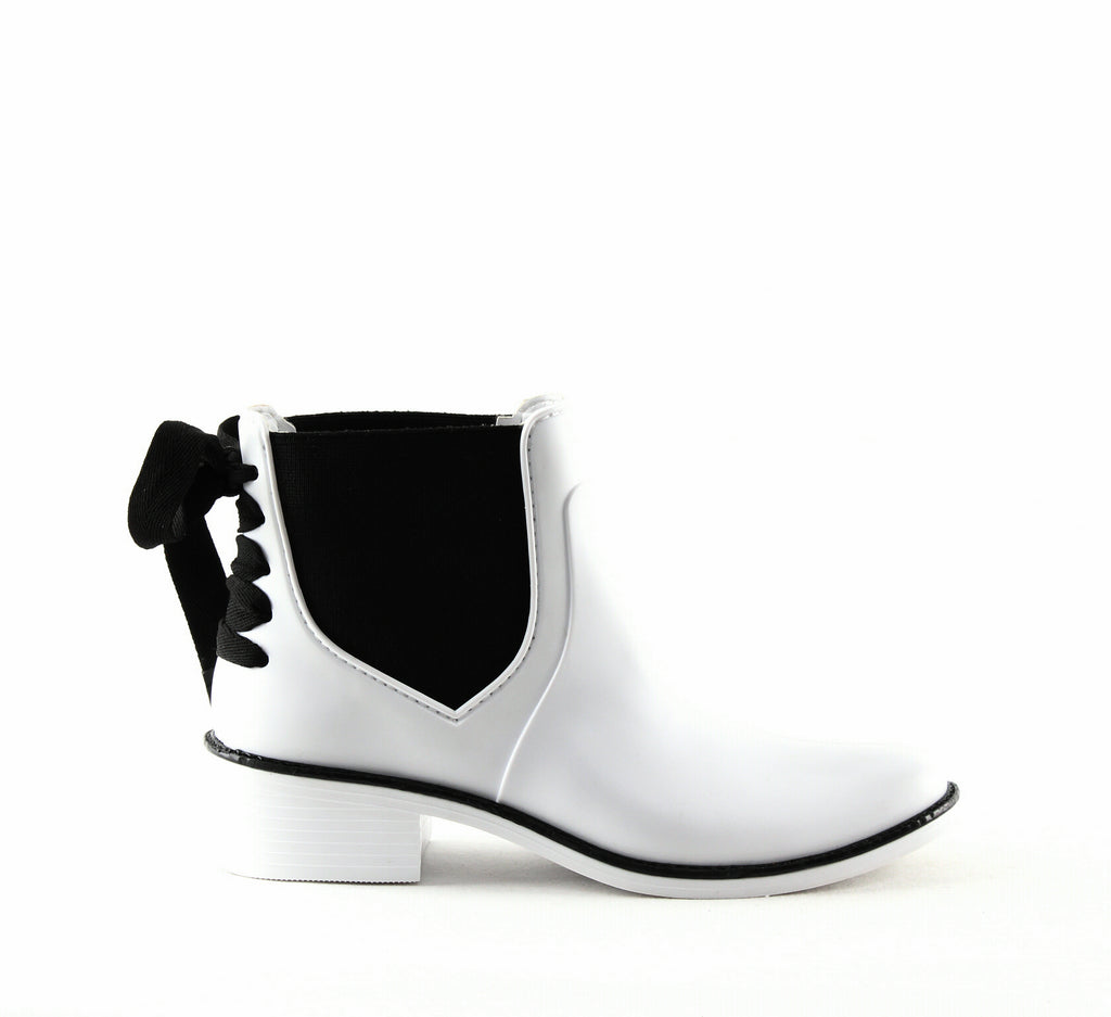 Yieldings Discount Shoes Store's Paxton Rain Boots by Bernardo in White