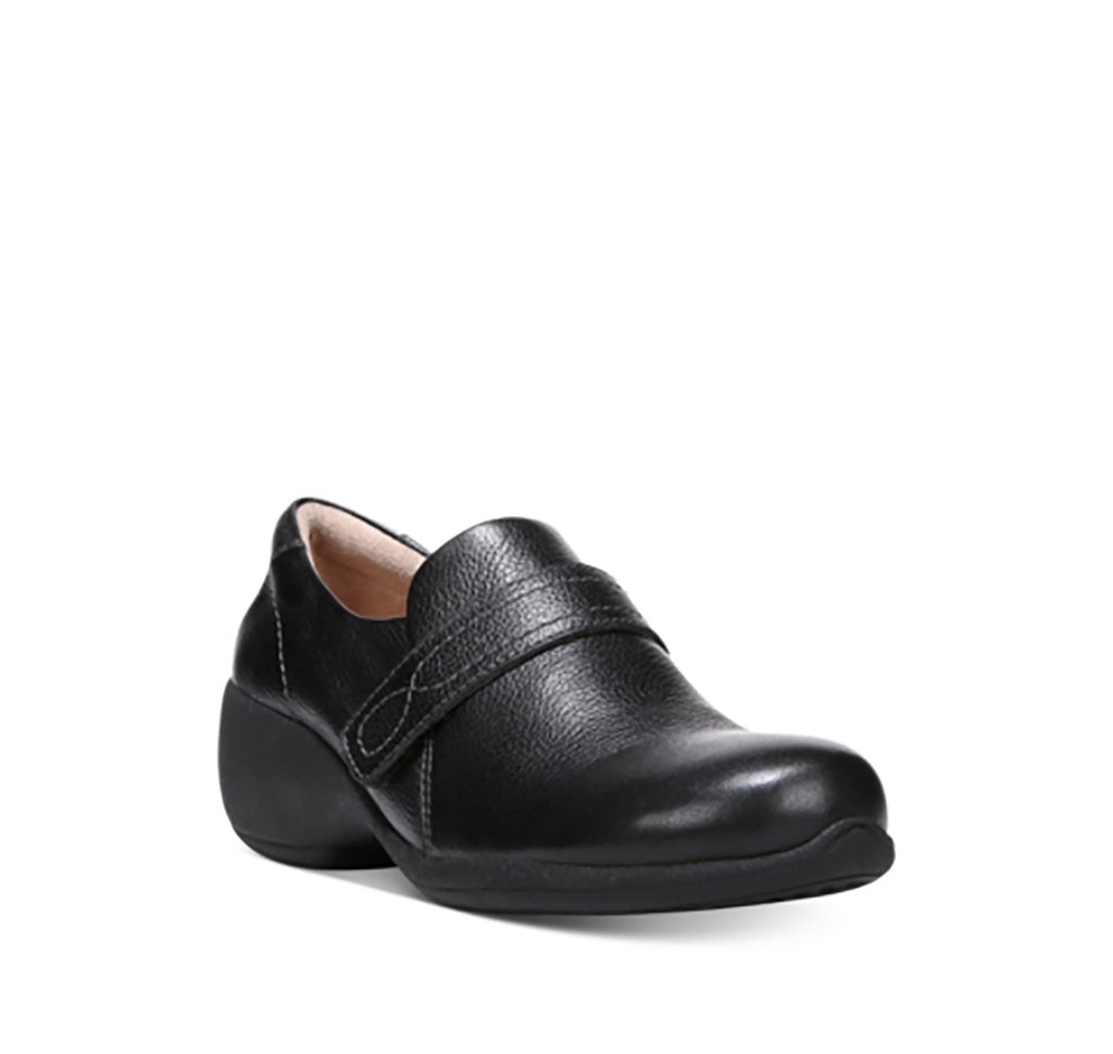 Yieldings Discount Shoes Store's Josefa Cross Strap Loafers by Naturalizer in Black