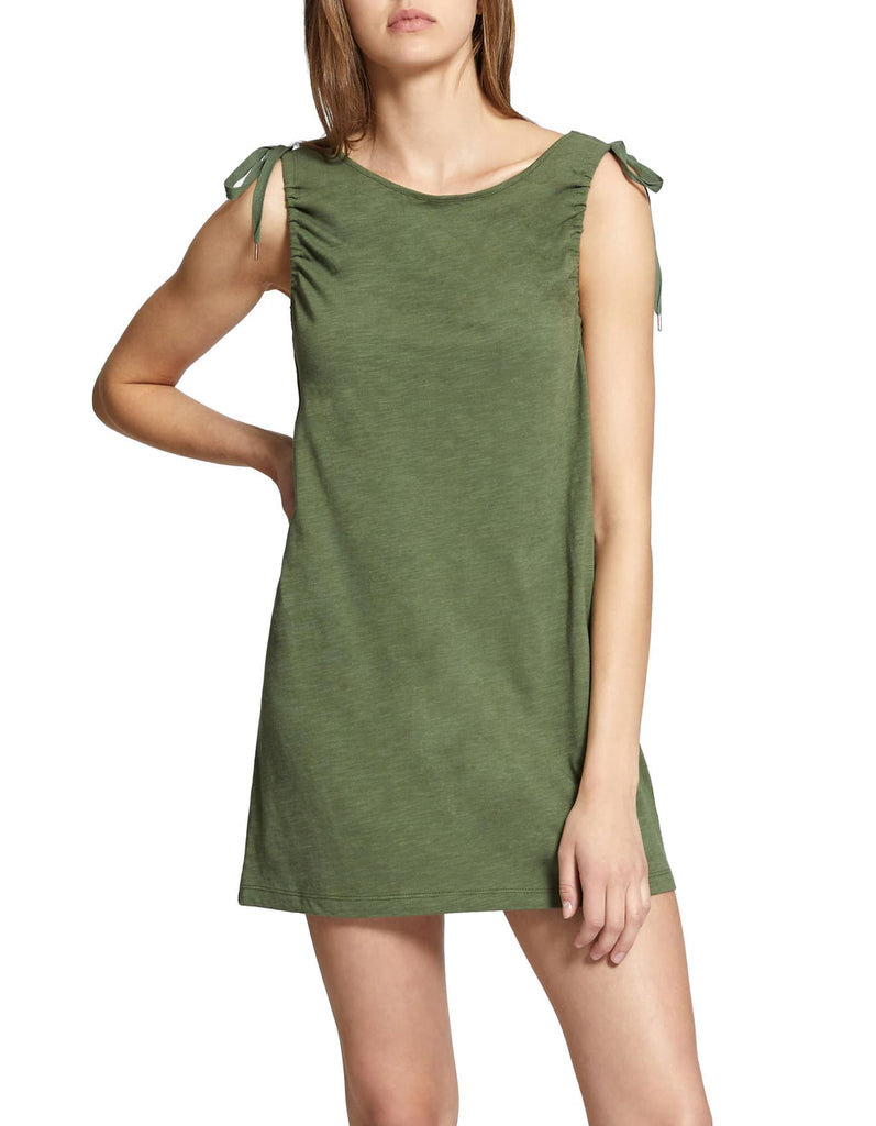 Yieldings Discount Clothing Store's Midsummer Tie-Shoulder Dress by Sanctuary in Cadet