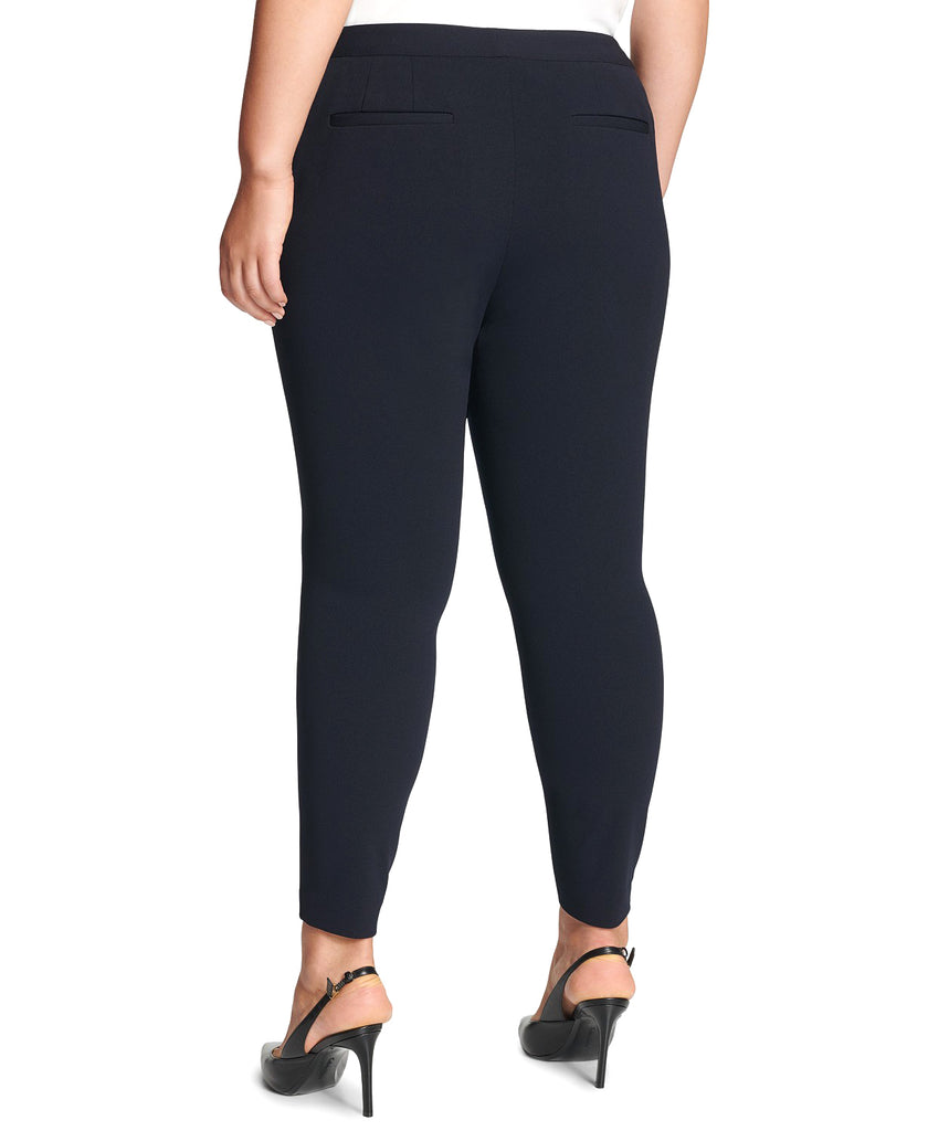 Yieldings Discount Clothing Store's High Waist Skinny Pants by Calvin Klein in Navy