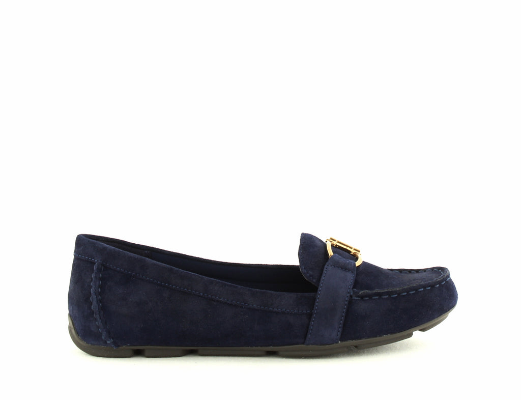 Yieldings Discount Shoes Store's Petra Loafer Flats by Anne Klein in Navy