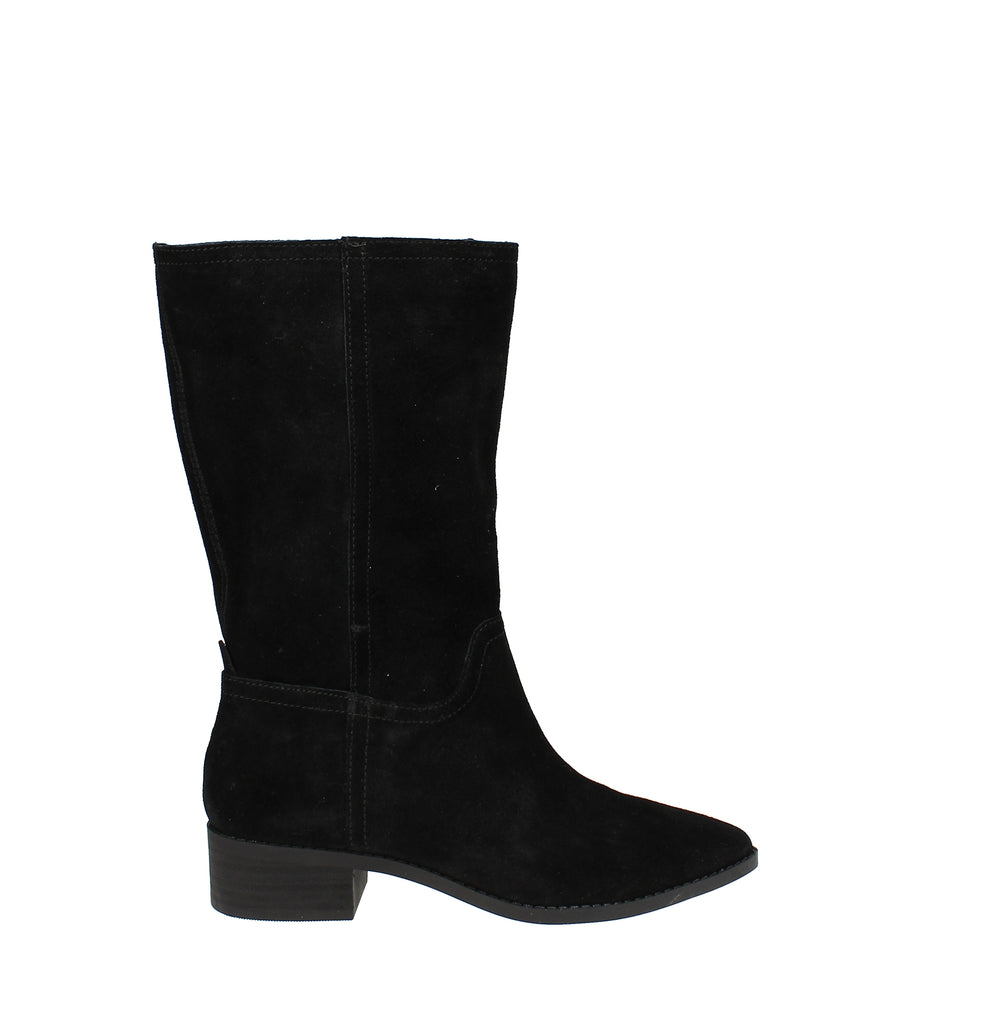 Yieldings Discount Shoes Store's Lefara Block Heel Boots by Lucky Brand in Black