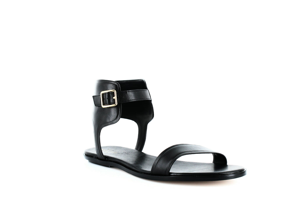 Yieldings Discount Shoes Store's Barra Flat Sandals by Cole Haan in Black