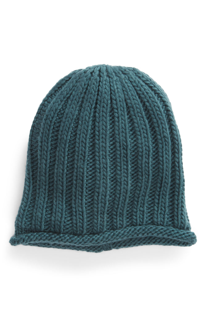 Yieldings Discount Accessories Store's Rory Rib Knit Beanie by Free People in Petrol