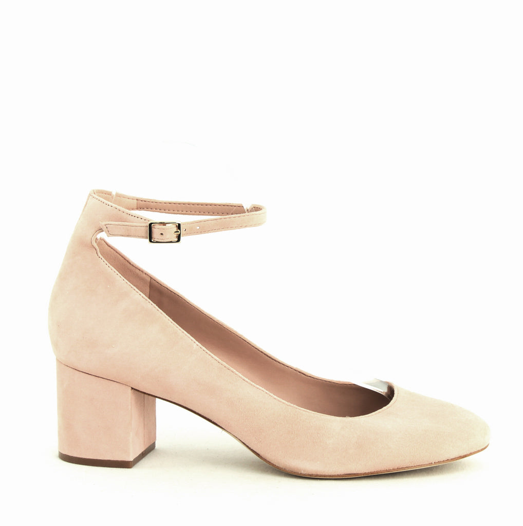 Yieldings Discount Shoes Store's Clarisse Block Heel Pumps by Aldo in Light Pink