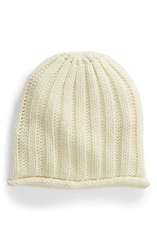 Yieldings Discount Accessories Store's Rory Rib Knit Beanie by Free People in Ivory