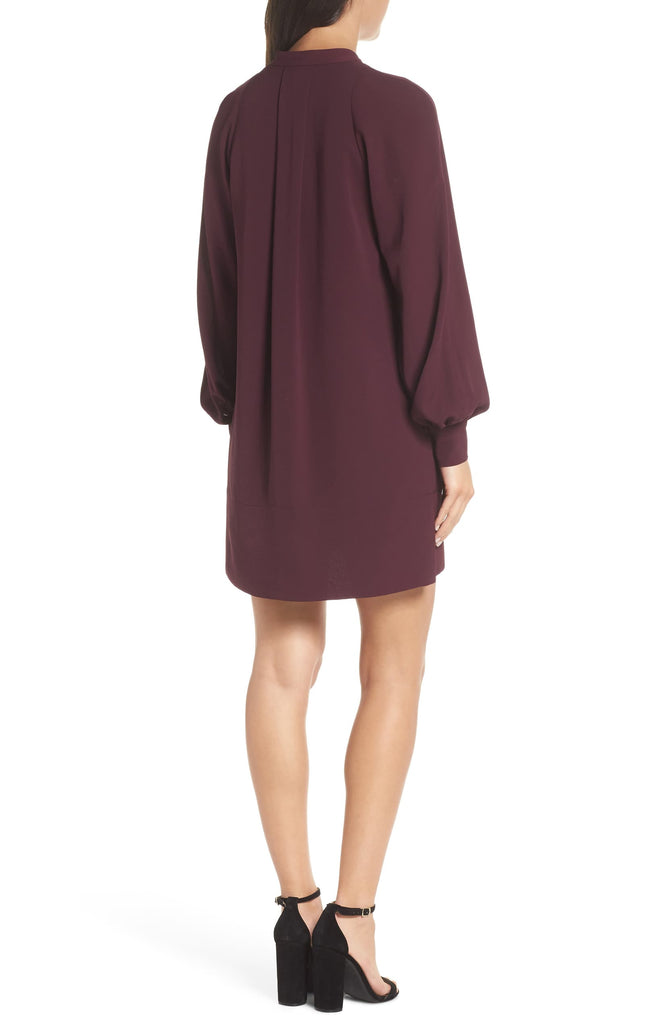 Yieldings Discount Clothing Store's Mahi Crepe Tunic Dress by French Connection in Plum Noir